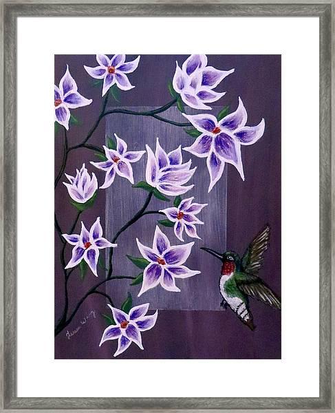 Hummingbird Delight Framed Print