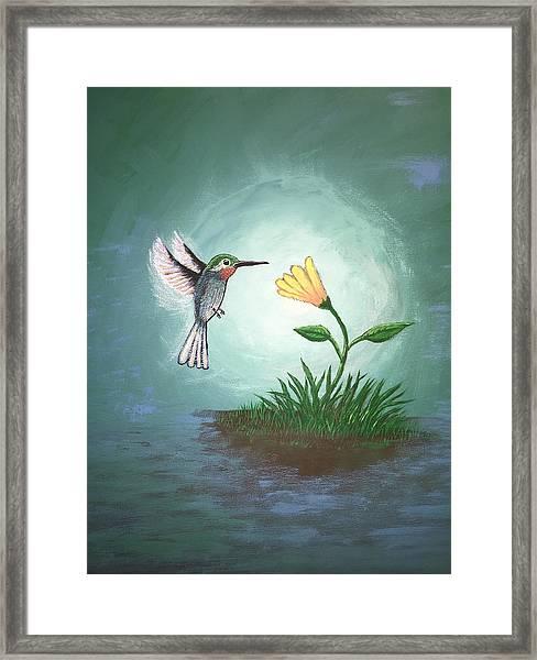 Framed Print featuring the painting Hummingbird II by Antonio Romero