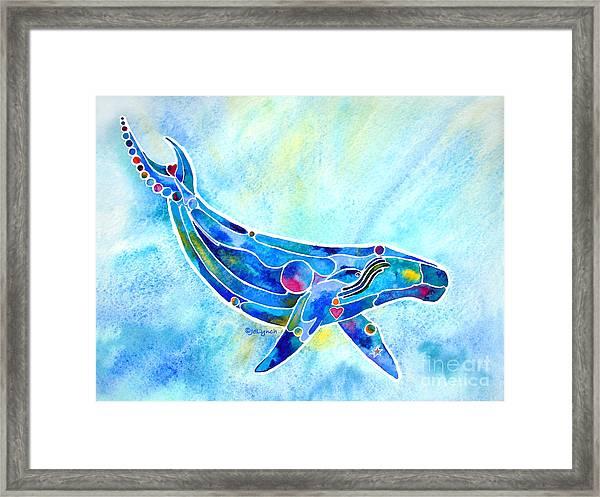 Humpback Whale Blues Framed Print