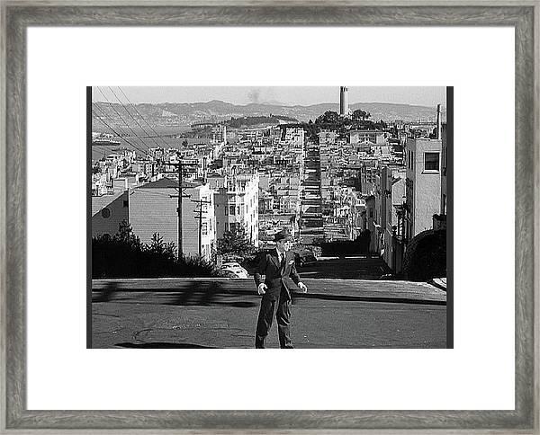 Humphrey Bogart Film Noir Dark Passage Telegraph Hill And Coit Tower San Francisco 1947 Framed Print