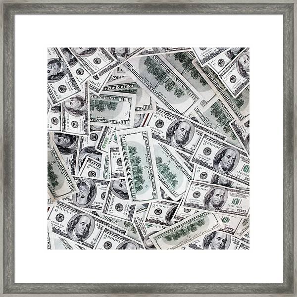 Hundred Dollar Bills Framed Print