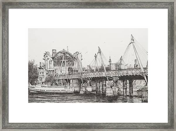 Hungerford Bridge Framed Print