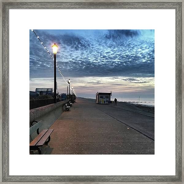 Hunstanton At 5pm Today  #sea #beach Framed Print