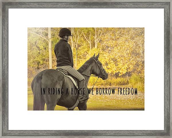 Hunter Art Quote Framed Print
