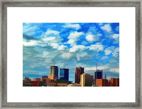 Huntsville Alabama Skyline Abstract Art Framed Print