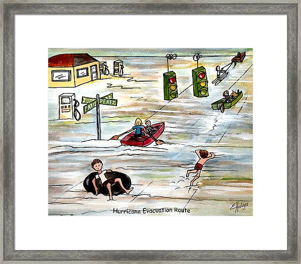 Hurricane Evacuation Route Framed Print
