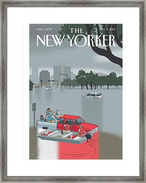 Hurricane Harvey Framed Print