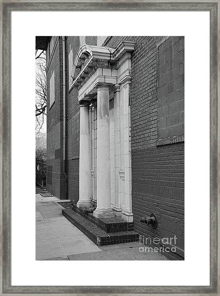 Hurst House Door Framed Print