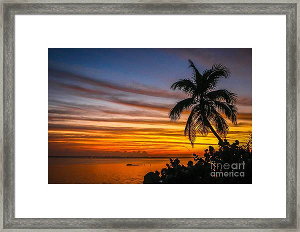 Framed Print featuring the photograph Hutchinson Island Sunrise #1 by Tom Claud