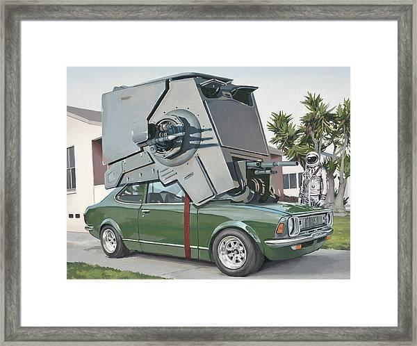 Hybrid Vehicle Framed Print