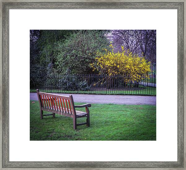 Hyde Park Bench - London Framed Print