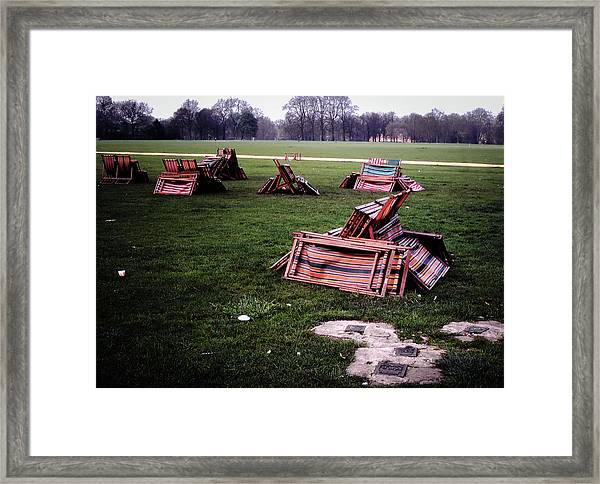 Framed Print featuring the photograph Hyde Park Morning by Samuel M Purvis III