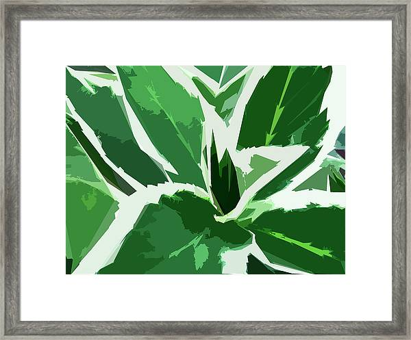 Framed Print featuring the digital art Hydrangea by Gina Harrison