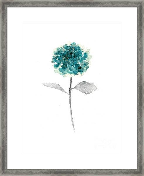 Hydrangea Nursery Art Print Framed Print