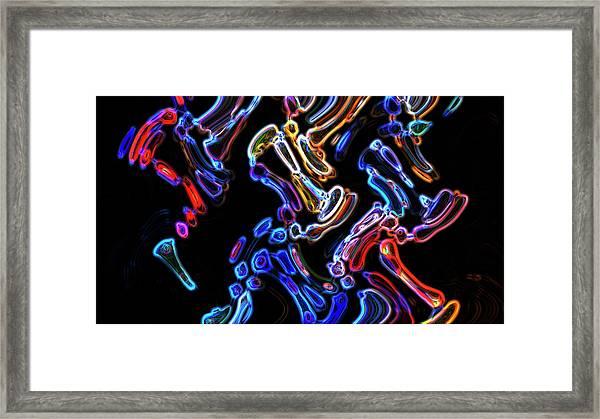 Hyper Oil Paint Framed Print