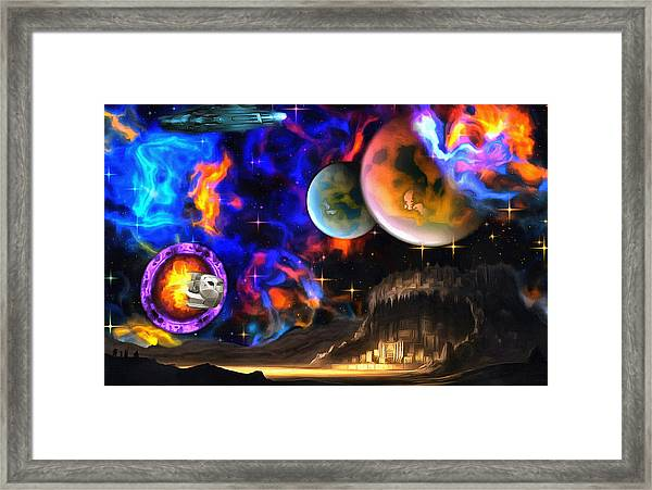 Hyperactivity Sector X66 In The Andromeda Gallaxy Framed Print