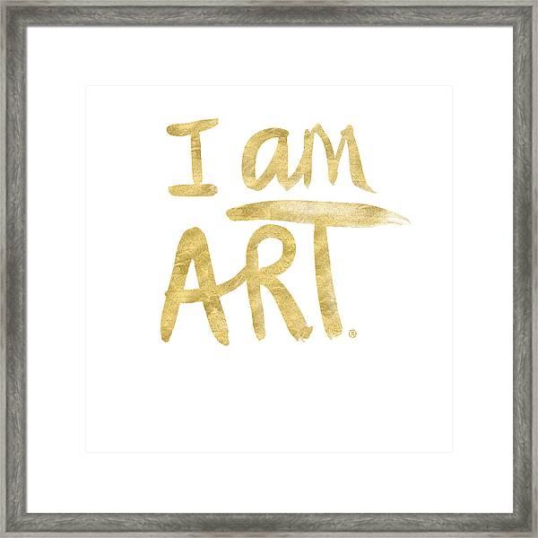 I Am Art Gold - Art By Linda Woods Framed Print