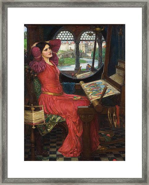 I Am Half Sick Of Shadows Said The Lady Of Shalott Framed Print