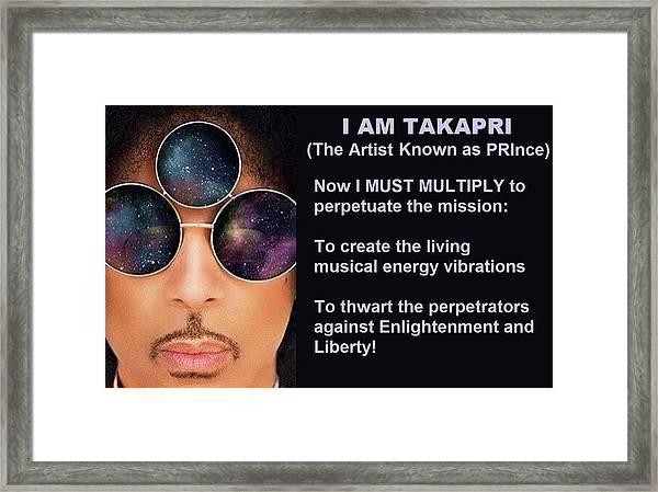 I Am Takapri Framed Print