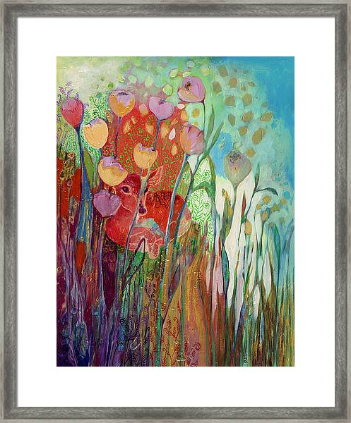 I Am The Grassy Meadow Framed Print