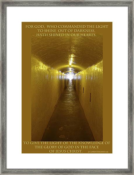 I Am The Light Framed Print