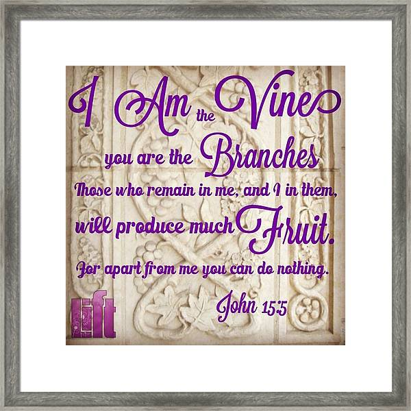 """i Am The True Grapevine, And My Framed Print"