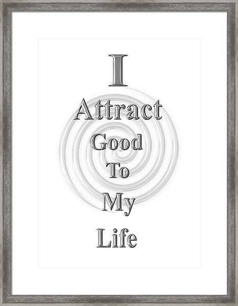 I Attract Silver Framed Print
