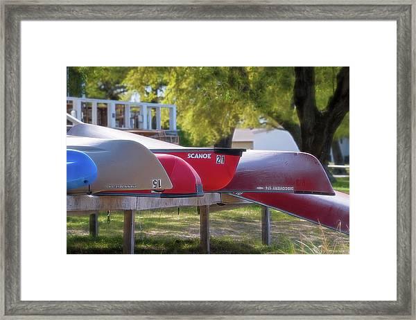 I Believe I'll Go Canoeing Framed Print