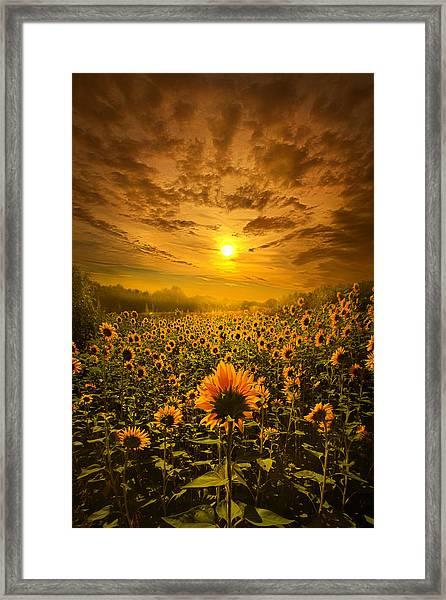 I Believe In New Beginnings Framed Print