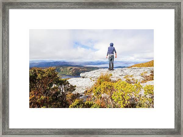 I Can Climb Mountains Framed Print