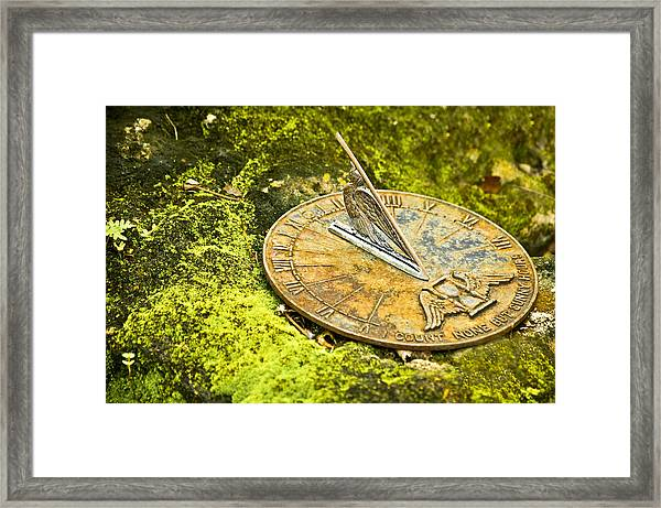 Framed Print featuring the photograph I Count None But Sunny Hours by Carolyn Marshall