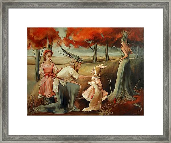I Don't Wanna Be A Tree Framed Print by Jacque Hudson