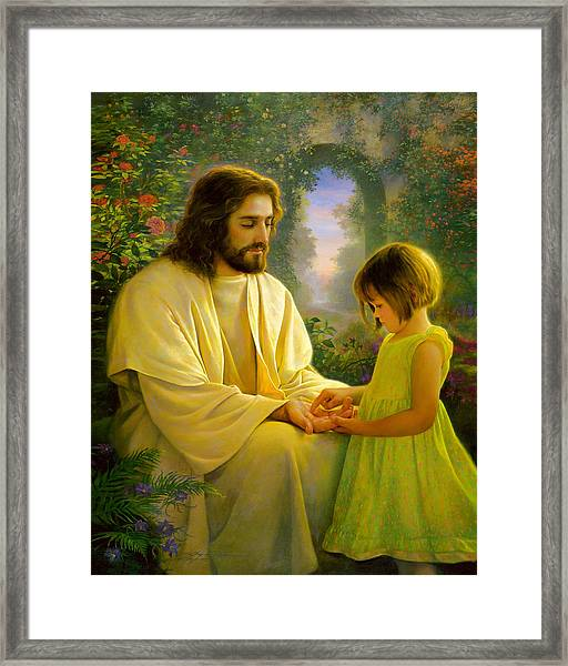 I Feel My Savior's Love Framed Print
