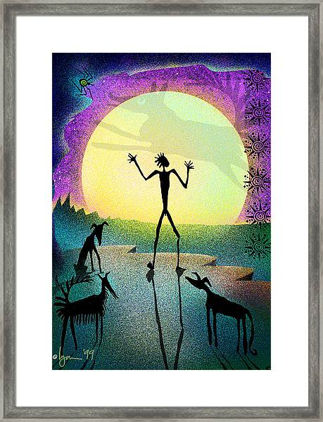 I Foresee A New Friend Framed Print