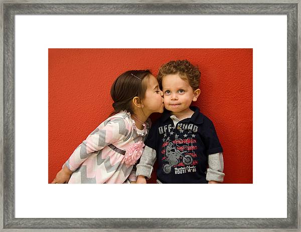 I Give You A Kiss Framed Print