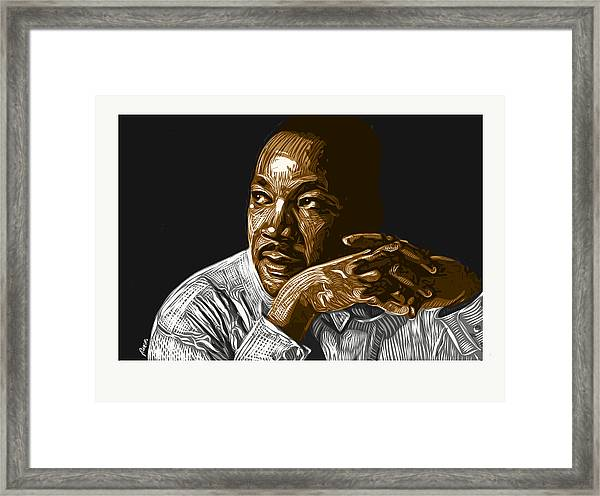 Framed Print featuring the digital art I Have A Dream . . . by Antonio Romero