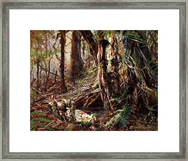 I Invented Recycling Framed Print