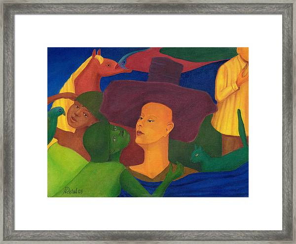 I Know Everything. Framed Print