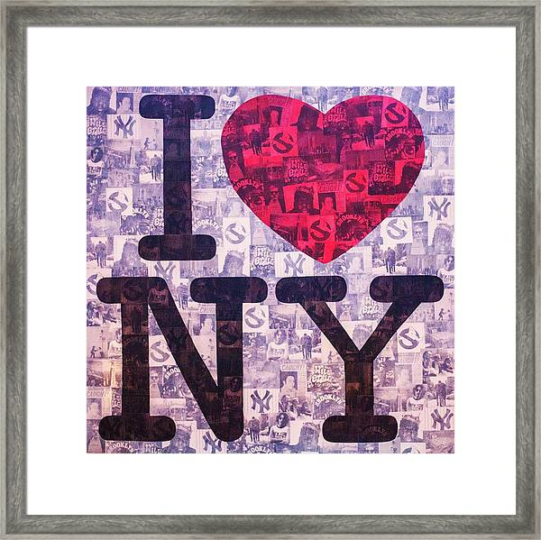 I Love New York Framed Print