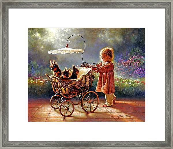 I Love New Yorkies Framed Print