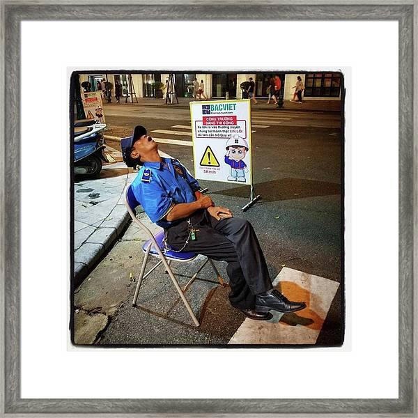 I Love Sleeping. So I Was Extra Quiet Framed Print by Mr Photojimsf