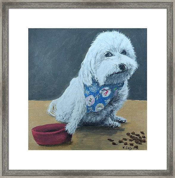 Framed Print featuring the painting No Bowls by Kevin Daly