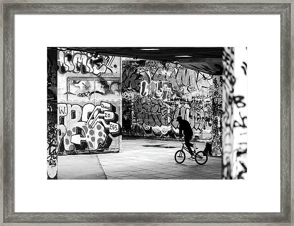 I Ride Alone Framed Print