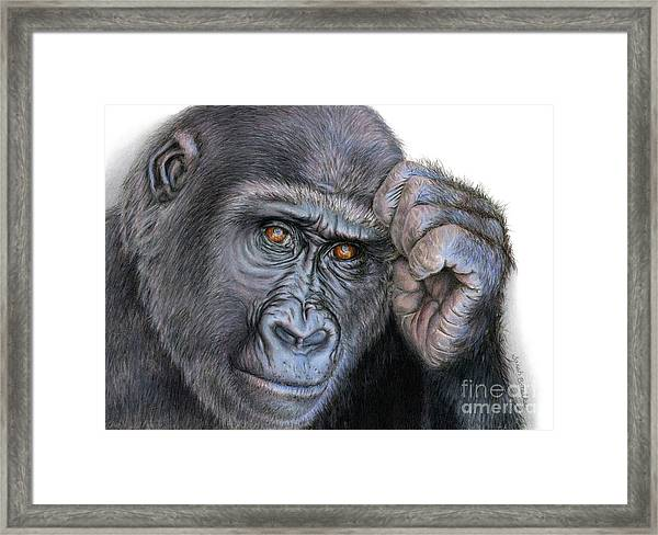 I Think Therefore I Am Framed Print