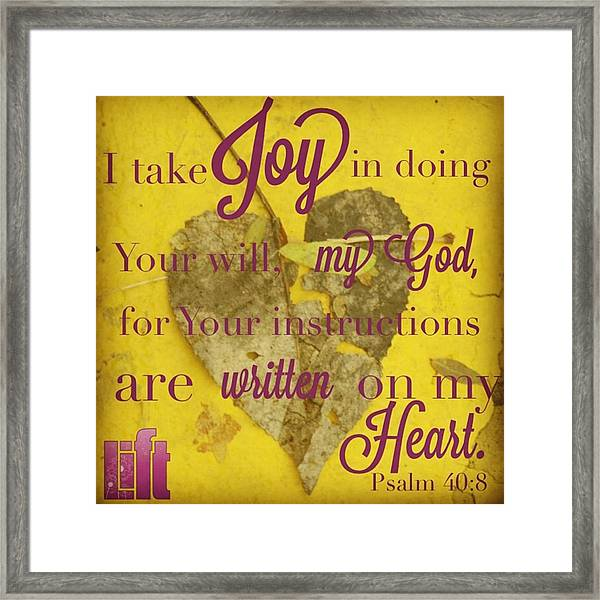 I Waited Patiently For The Lord To Help Framed Print