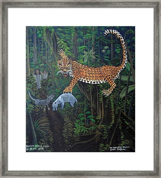 I Want To Live Jaguar Framed Print by Kayum Ma'ax Garcia