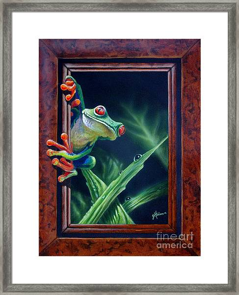 'i Was Framed' Framed Print