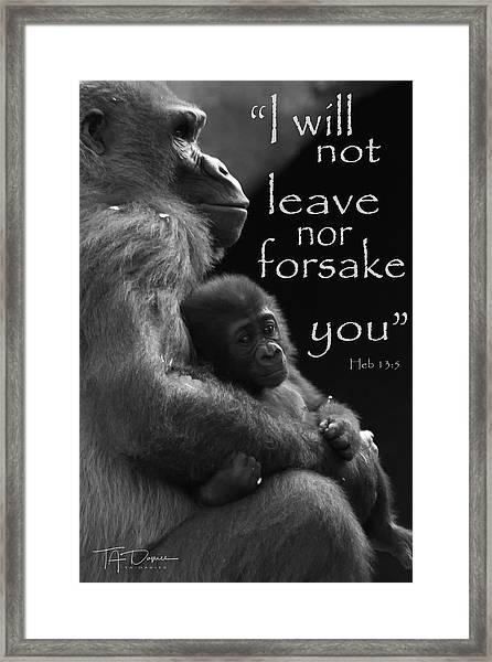 I Will Not Leave Nor Forsake You Framed Print