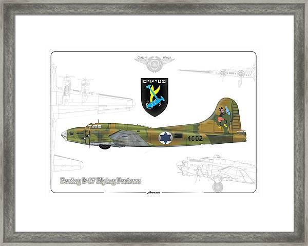 Iaf B-17 Flying Fortress Framed Print