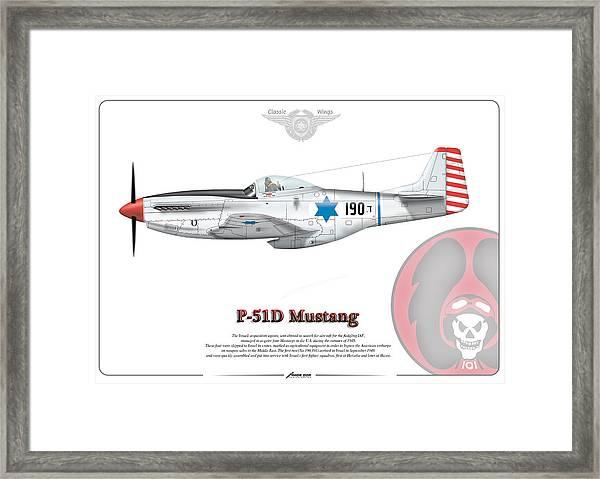 Iaf First P-51d Mustang Framed Print